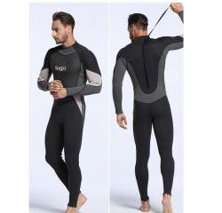Geel Comité 3mm het Surfen van de Ritssluiting van het Kostuum van de Duik van het Neopreen hetSleeved AchterOEM van het Kostuum Opdracht geven tot