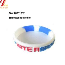 Geprägter SilikonWristband mit Abnehmer konzipiert justierbares Silikonwristband-Armband mit Anweisung