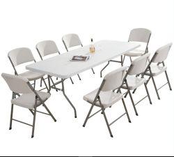 6' Table pliante plastique Portable intérieur extérieur partie salle à manger Tables de pique-nique Camp