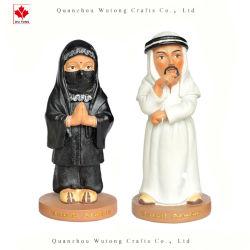 OEMの従来のアラビアの彫像の置物のPolyresinの記念品のクラフト