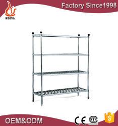 Mensola commerciale del supermercato dell'acciaio inossidabile, scaffalatura d'acciaio di montaggio del supermercato