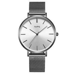 Bonito Acero Inoxidable Negro de la marca de moda grabar personalizada Watch Wy145
