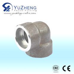Haute pression en acier inoxydable ASTM A105 a forgé le raccord coudé