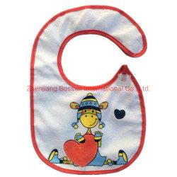 OEMはスクリーン印刷の綿のテリーの赤い赤ん坊の胸当てをカスタム設計する