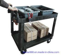 500lbのプラスチックによって上げられるハンドルの実用的なServiecのツールのカート。 容量
