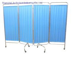 移動可能な医学のステンレス鋼の家具の病院用ベッドの折る区スクリーン