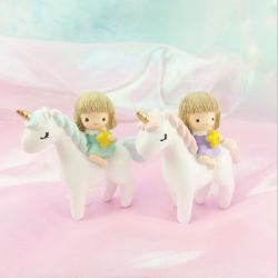 중국 OEM Newborn 선물 생일 선물 레진 미니 유니콘 케이크 토퍼
