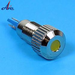 8mm painel metálico do indicador LED de 24V a lâmpada piloto