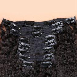 Cuticule alignée Indian Remy Hair Clip humaine dans les extensions, différentes longueur Clip personnalisée dans le Tissage de cheveux Remy