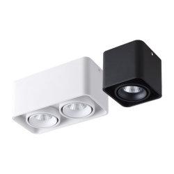 6 واط مع 12 واط و8 واط و16 واط مع سطح دائري لمصباح النقاط الفردي للتوأم مصباح LED مُثبَّت على الشاشة