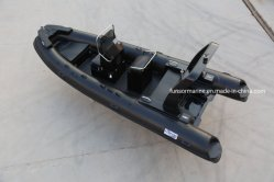Nuevo Hypatex Hypalon GRP Rhib inflable barco de pasajeros en todos los Color Negro (FHH-R580A)