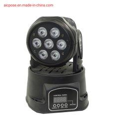 7X12W mini-discoteca de movimentação de LED de luz de casamento de equipamento