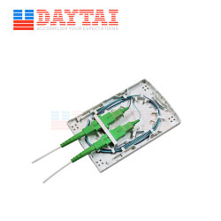 Telekommunikationsinnen-FTTH keine faser-Optikendpunkt-Kasten-Kontaktbuchse des Ohr-Adapter-2 Port