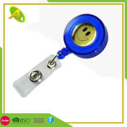 BSCI bon marché de l'acier Badge Rétractable Stylo du rabatteur (060)