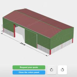 Magazzino facile dell'azienda agricola della struttura d'acciaio dell'installazione