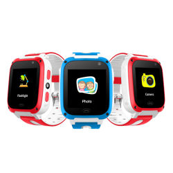Smart filhos vêem Casual Moda 1,44 Polegadas Faixa de silicone jogo GSM Phone assistir com a lanterna de Alarme de Emergência