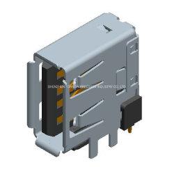 Shenzhen-guter Preis-elektronischer Fabrikaf-Verbinder 90 Grad vertikale USB-Kontaktbuchse