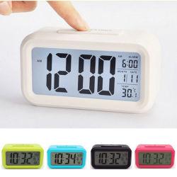 Orologi astuti dell'allarme dell'affissione a cristalli liquidi di prezzi di fabbrica con la temperatura C-636 di dati di tempo di Snooze