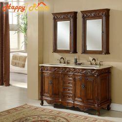 Meubles de salle de bains en aluminium Cabinet Cabinet de profil de grain de bois en aluminium