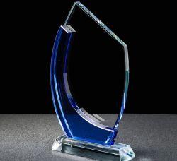 Китай заводской оптовой трофей синий полумесяца хрустальное стекло премии