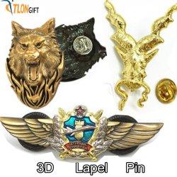 Pássaro de ouro de moda de Metal Personalizado crachá para Pin de lapela Oferta Promocional