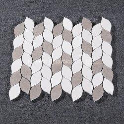 Mosaico di pietra di marmo irregolare decorativo del materiale da costruzione per la parete