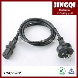 Cordon d'alimentation australien avec connecteur IEC 60320 C13.
