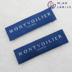 Etiquetas de tecidos de venda superior Design Personalizado personalizada em tecido de alta densidade de vestuário de tecido de etiquetas de logotipo