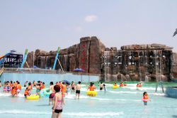 Precio barato de aguas usadas Juegos piscina de olas Factory