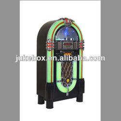 Luz de LED de 7 Cores Jukebox com CD Player + Slot SD USB + Função Bluetooth