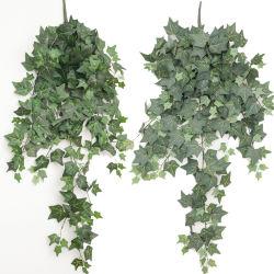 Guirnalda de hojas de hiedra artificial de plástico de las plantas siempre verdes de la Flor de vid para la decoración del hogar decoración de boda