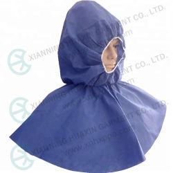 Cappuccio monouso con cappuccio blu SMS non tessuto