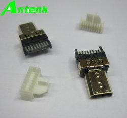 HDMI Connecteur mâle de type D à souder