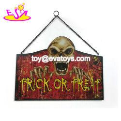 Commerce de gros de personnaliser les décorations en bois d'Halloween en plein air pour la vente W09D049