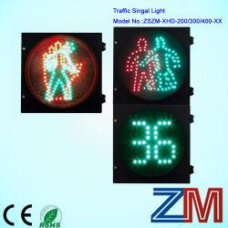De voet LEIDENE Groene (Dynamische) Mens van het Verkeerslicht