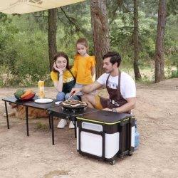 휴대용 통합형 야외 캠핑 쿠킹 벤치 키친 세트 키친 박스
