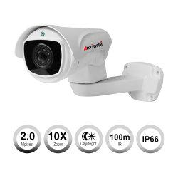 10X lautes Summen 2.0MP Gewehrkugel-Kamera CCTV-Farbe IR-PTZ