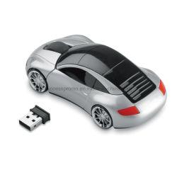Ratón inalámbrico en forma de coche con el receptor
