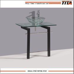 Lavabo de cristal / Vidrio templado de vidrio claro Lavabos para baños / Gabinete Lavabo (TB010)