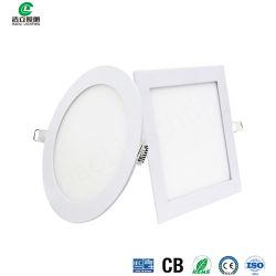En el interior del panel de techo LED Empotrables luz sin cerco redondo 18W