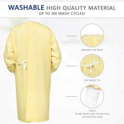 Estrutura de fato direto de fábrica Nonwoven vestido de isolamento de PP amarelo 25-65g
