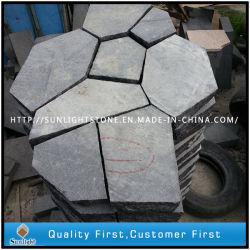 De natuurlijke Zwarte Straatsteen van het Basalt of de Onregelmatige Steen van de Vlag