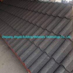 Muestras gratis China mosaico de metal fabricante de materiales de construcción de la zona este de Estados Unidos Durable Teja mezcla colorida de acero recubierto de piedra de la hoja de techos de tejas