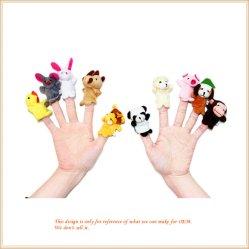 ぬいぐるみ指のパペットプラシ天手パペットおもちゃ