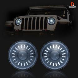 Sellado de sustitución de LED de luz de cruce de 7 pulgadas de Jeep faros LED Haz múltiple