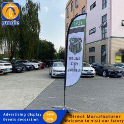 Polyester Feather Flag Promotioneel gebruik Reclame Exhibition Event Outdoor Flying Strandvlag