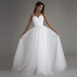 2020 A-Line моды простой Backless строп вечерние платья