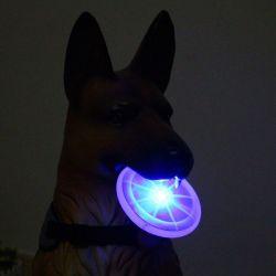 محبوب إمداد تموين كلب لعب [لد] مضيئة طيران أسطوانة [إنفيرونمنتل بروتكأيشن] مادّيّة كلب تدريب إمداد تموين كلب مضغ لعب