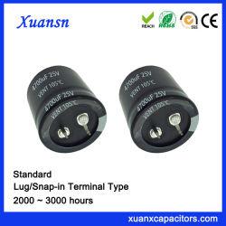 4700UF 25V Standardhupen-Verschluss-elektrolytischer Kondensator