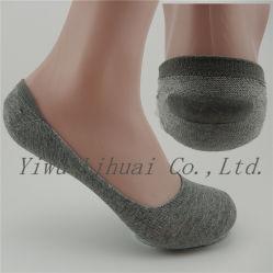Nueva moda de la mujer Antiskid de algodón Camisa Invisible calcetines de corte bajo